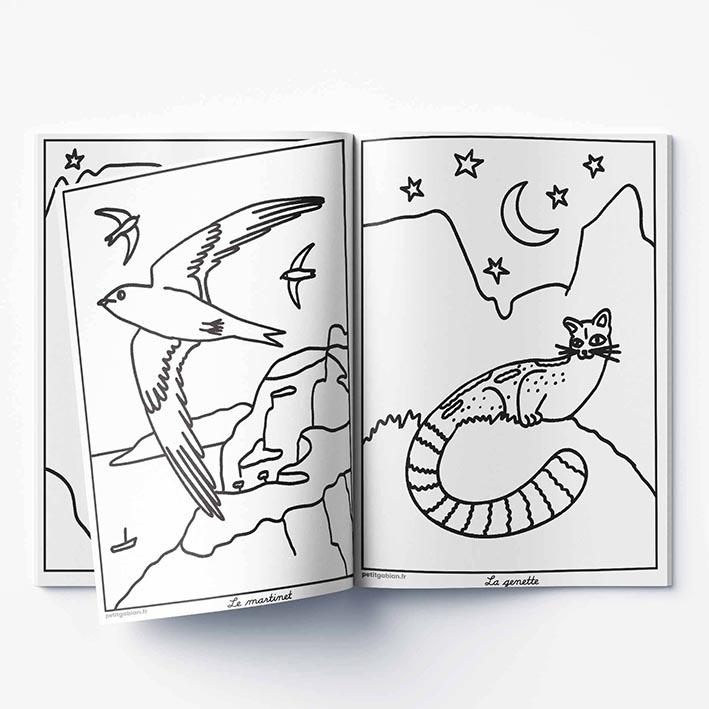 Page de coloriage sur les animaux marins